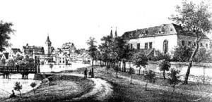 Stadt Calbe -Schloss 1840